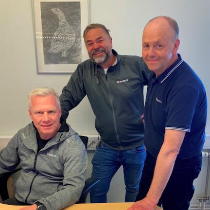 Regionchef Tommy Johansson, ägare Lars Grehn och Erik Stenmark